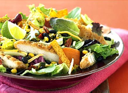 McDonald's Southwest Salad with Grilled Chicken - 320 Calories, 9g of Fat, 30g of Protein.