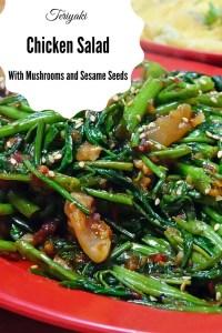 Teriyaki Chicken with Mushrooms and Sesame Seeds