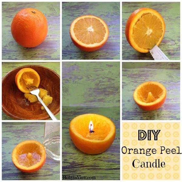 3.) Orange Peel Candles