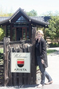 Arriving at Arista - main tasting room in the background