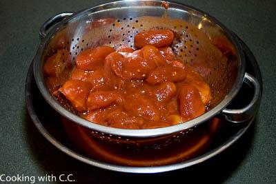 Draining Tomatoes