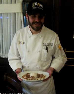 Executive Chef Kevin Fitzpatrick With Dessert