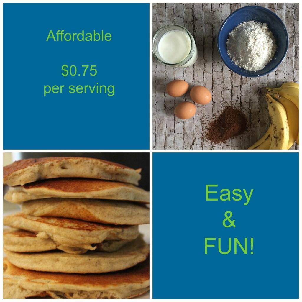 Make Ahead Cheap & Healthy Banana Pancakes