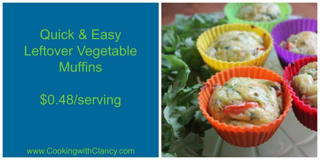 Quick & Easy Leftover Vegetable Egg Muffins