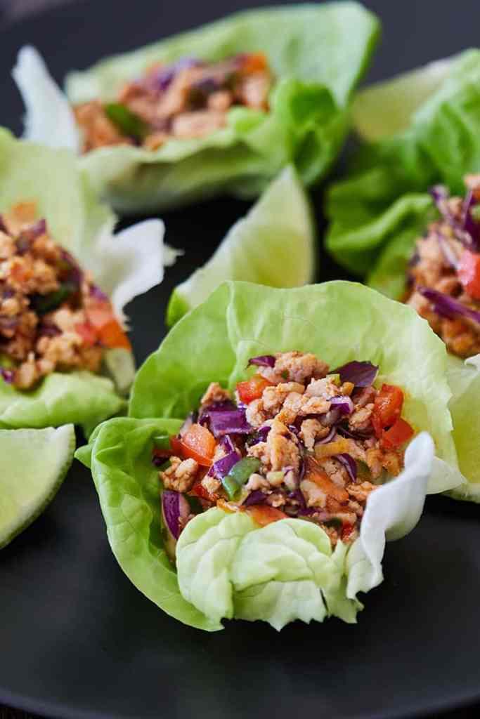 Thai Lettuce Chicken Cups