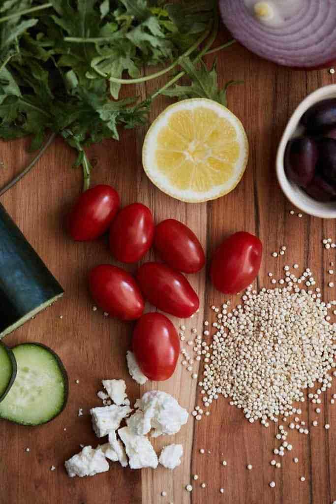 Greek Quinoa Salad Ingredients