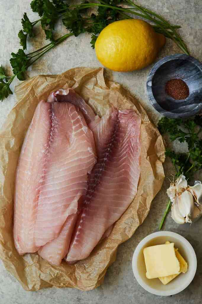 Spicy Lemon Garlic Tilapia Ingredients