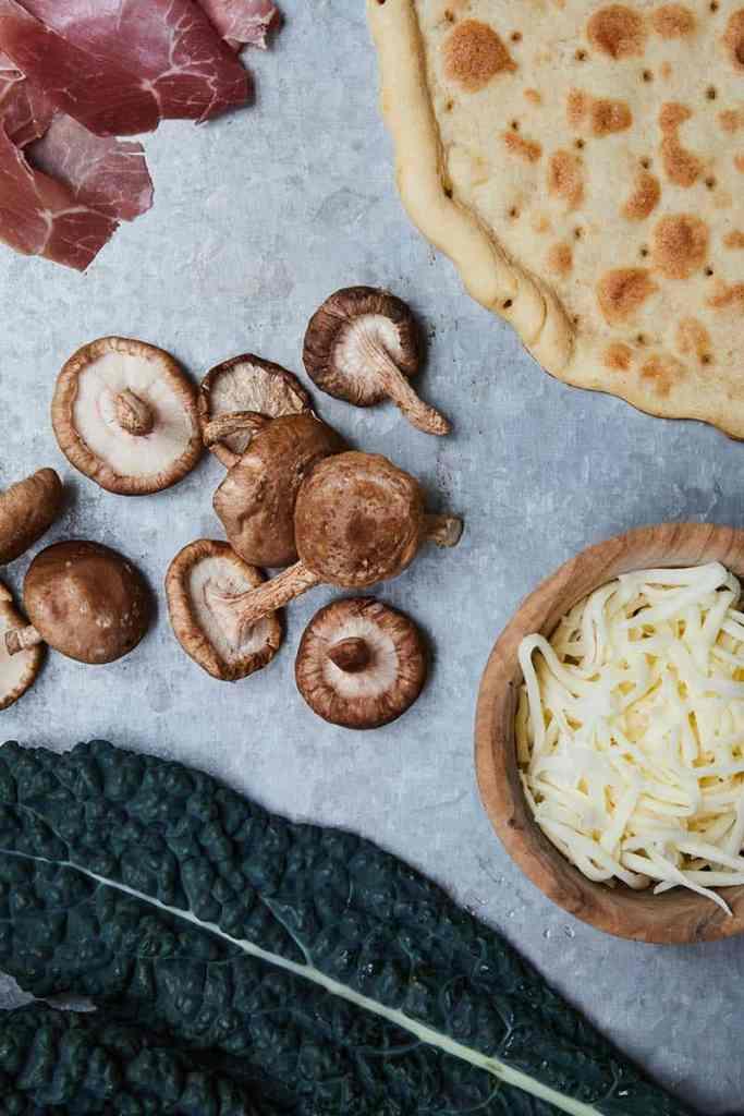Kale Mushroom Pizza Ingredients