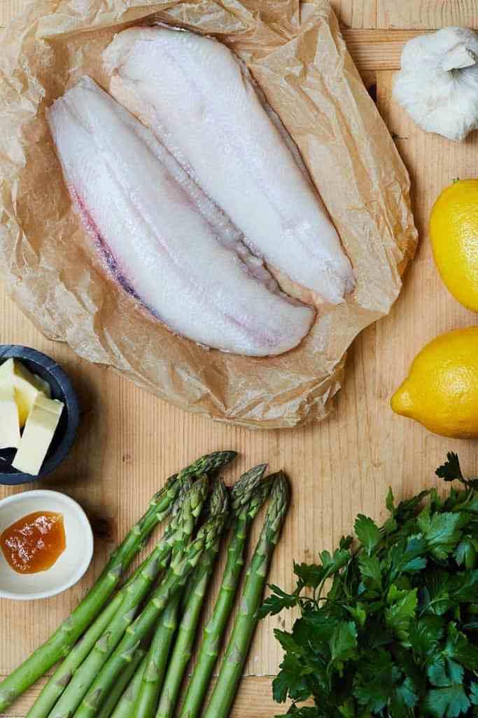 Sheet Pan Lemon Garlic Sole Ingredients