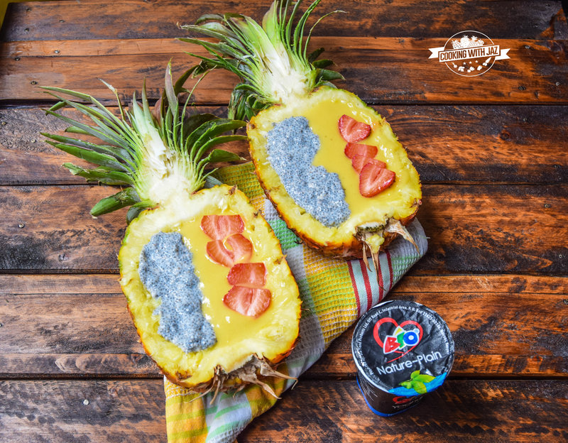 Pineapple Boat With Bio