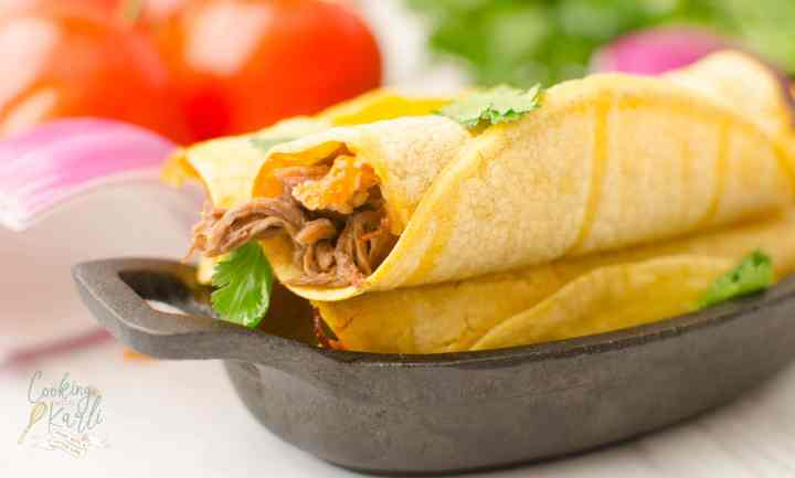 Shredded Beef Taquitos are simple and flavorful. The crunch of the corn tortilla against the perfectly shredded beef and melted cheese is a winning combination!
