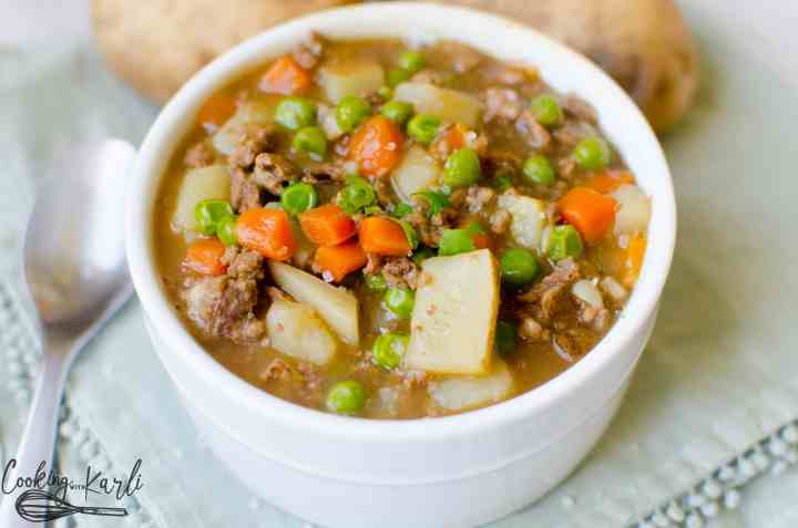 Poor man's soup or stew is a cheap and easy meal for those on a budget.