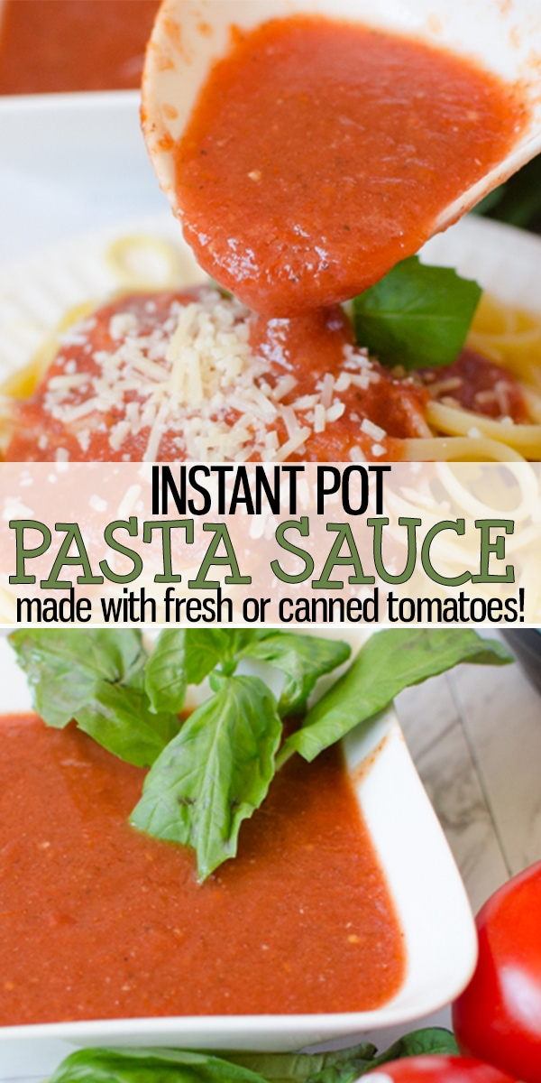 Pasta Sauce Recipe is a red, tomato based pasta sauce that is simple and easy to make. This recipe can be made using fresh, garden tomatoes or canned tomatoes. This recipe freezes well, if needed. Never buy another jar of red pasta sauce again! |Cooking with Karli| #pastasauce #pasta #red #freshtomatoes #fresh #cannedtomatoes #homemade #garlic #easy #instantpot #recipe