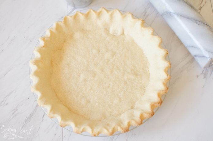 Pie crust made from sugar cookie dough.