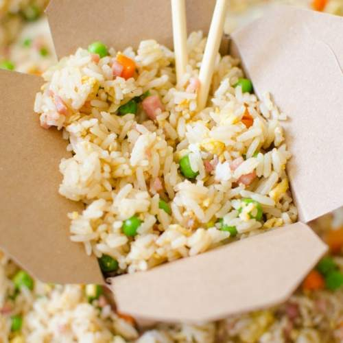 Better than takeout ham fried rice