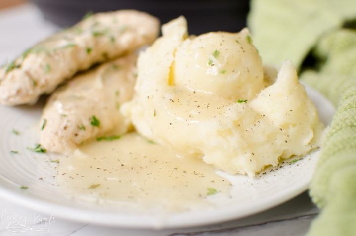 Instant Pot chicken, mashed potatoes and gravy