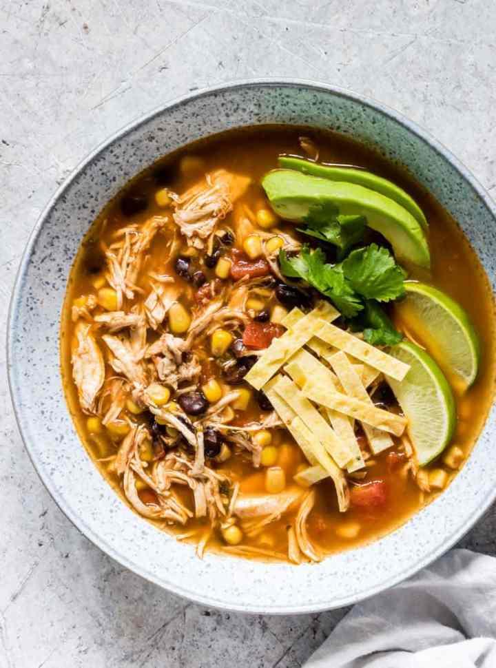 Instant Pot recipes- chicken tortilla soup