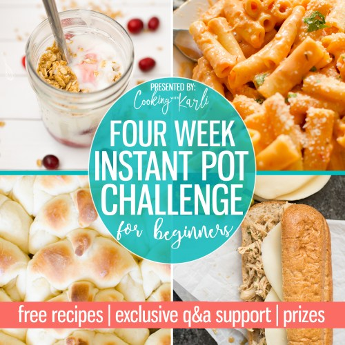 Are you, or someone you know, a little confused by the whole Instant Pot thing? QR & NPR say whaaat?! Join my FREE 4 week challenge and you'll leave feeling like an Instant Pot pro. ? Free recipes, exclusive facebook group, shopping lists.. and.. PRIZES!! |Cooking with Karli| #instantpot #instantpotrecipe #instantpotbeginner #beginner