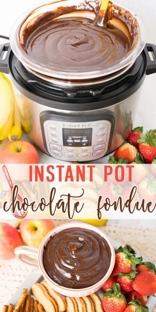 Chocolate Fondue is a fun, easy dessert idea that comes together in just minutes! Dip strawberries, cookies, pretzels and more into your homemade Chocolate Fondue. Made with only a few ingredients, Chocolate Fondue couldn't be any easier! |Cooking with Karli| #valentinesday #dessert #fondue #chocolatefondue #instantpot #recipe #easy #fast