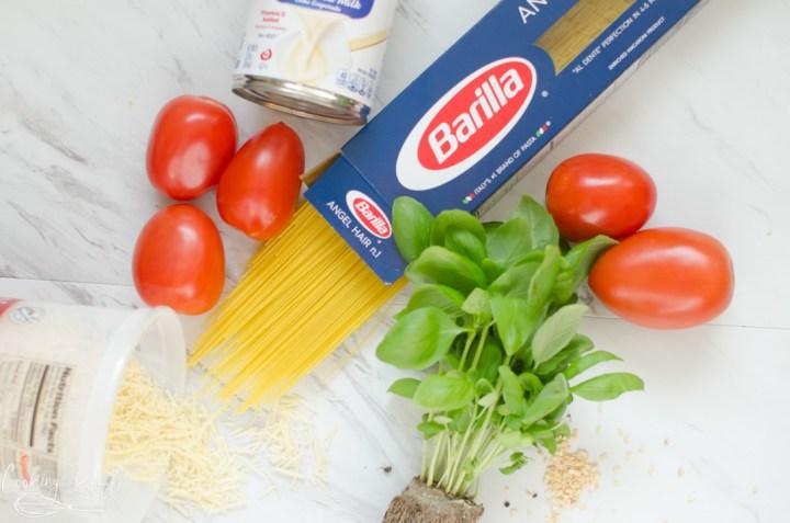 Ingredient shot for Tomato Basil Pasta