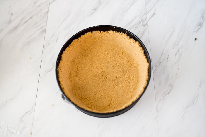 graham cracker crust for the cookie dough cheesecake