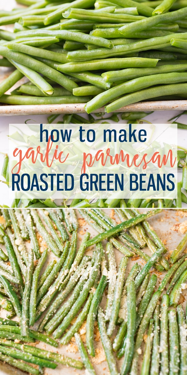 Roasted Green Beans are the perfect side dish. Oven roasted green beans are easily cooked to perfection! Still crisp and green with amazing flavor. Flavor classically or season with garlic and parmesan cheese. The perfect side dish for any meal! |Cooking with Karli| #greenbeans #sidedish #healthy #roasted #easter #recipe #howto