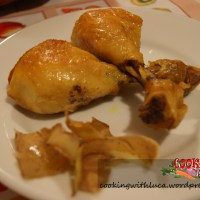 Cosce di pollo con curcuma