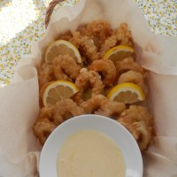 Calamari Fritti with Homemade Aeolia