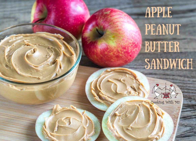 Apple peanut butter sandwich Vidya Sury