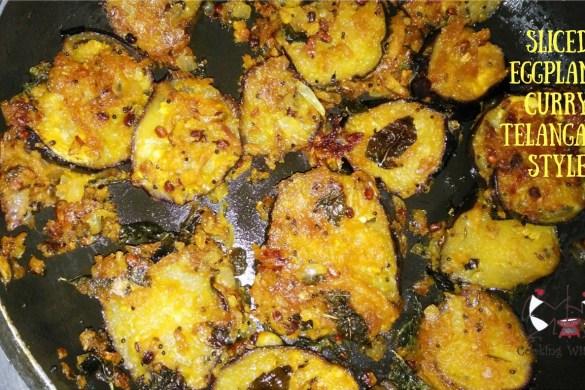 Sliced Eggplant Curry Telangana style #eggplant #healthy #homemade #vegetarian