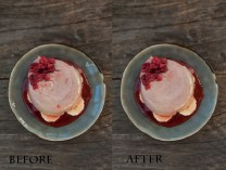 food retouching with photoshop