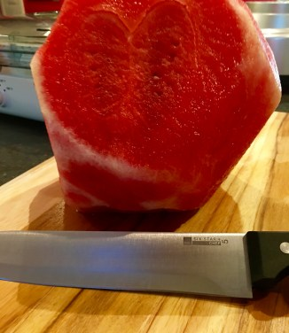 peeled watermelon
