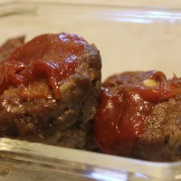Meatloaf Muffins with Meatloaf Glaze