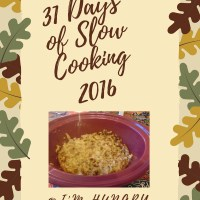 31 Days of Slow Cooking 2016
