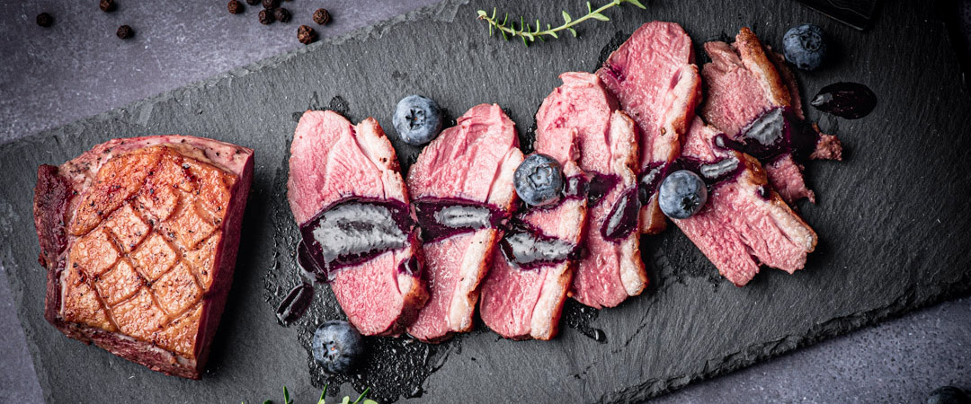 Blueberry Thyme Red Wine Reduction