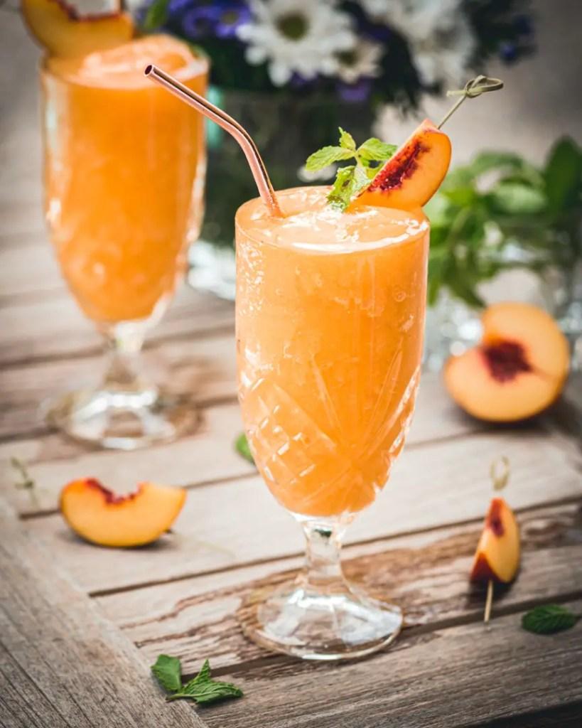 Peach Elderflower Frosé