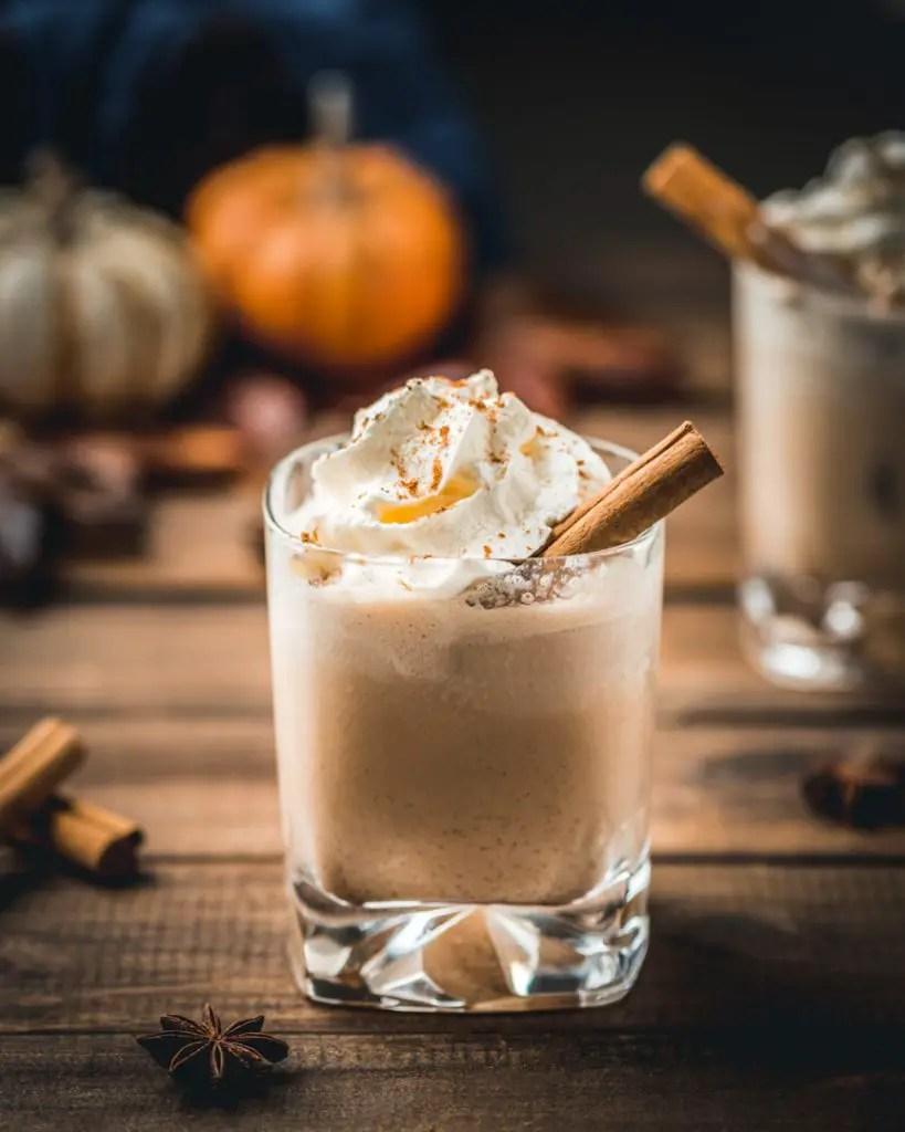 White Russian with Pumpkin Spice Cream