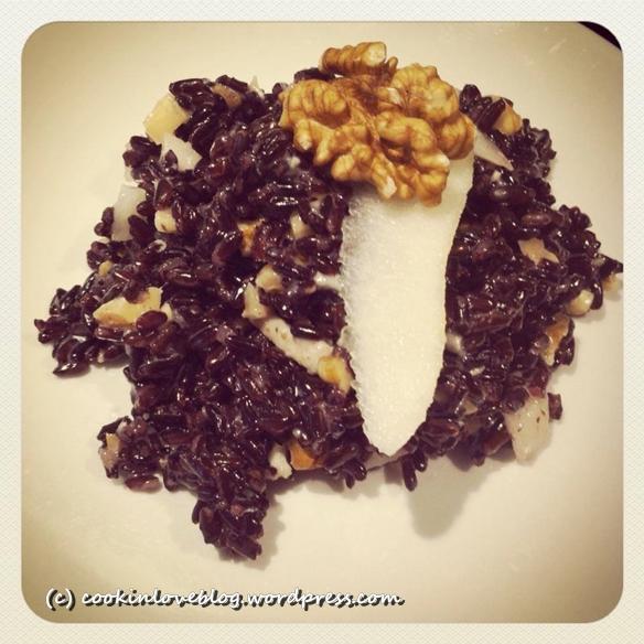 Al contadino non far sapere... quanto è buono il riso Venere con gorgonzola, noci e pere! (1/4)