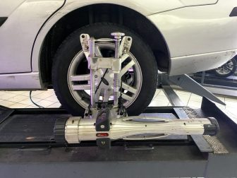 check wheel alignment at home