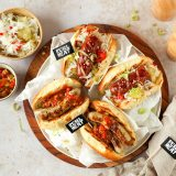 Hot Dogs mit Bratwürstel & Käsekrainer