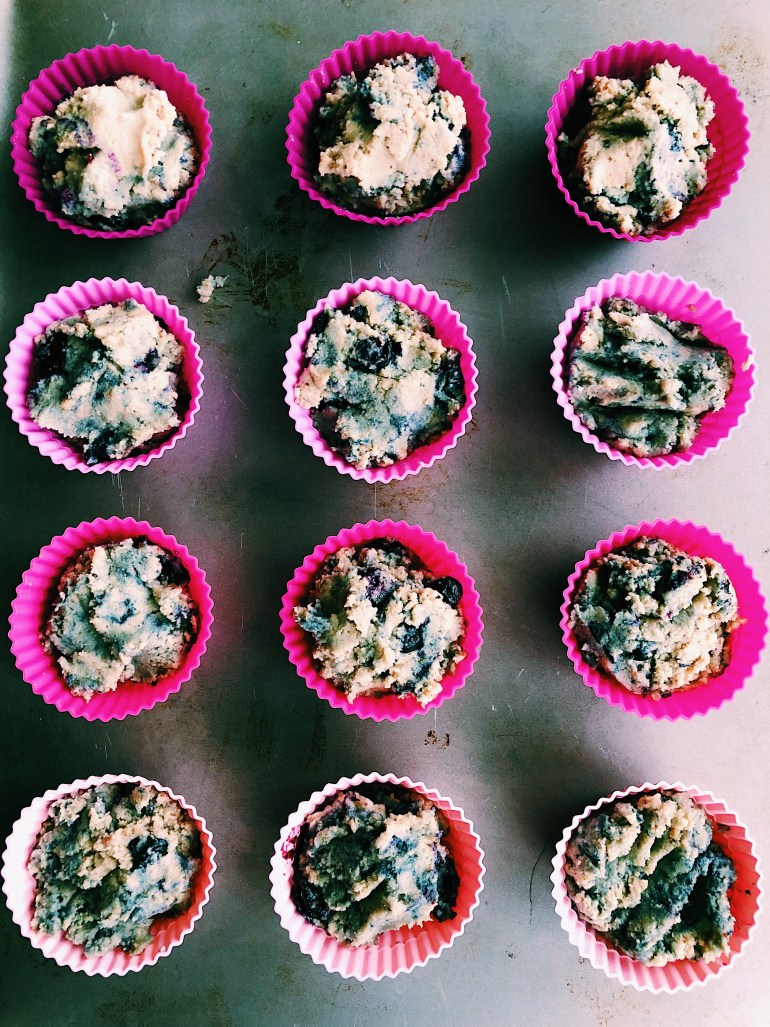 Healthy Gluten Free Blueberry Banana Muffins