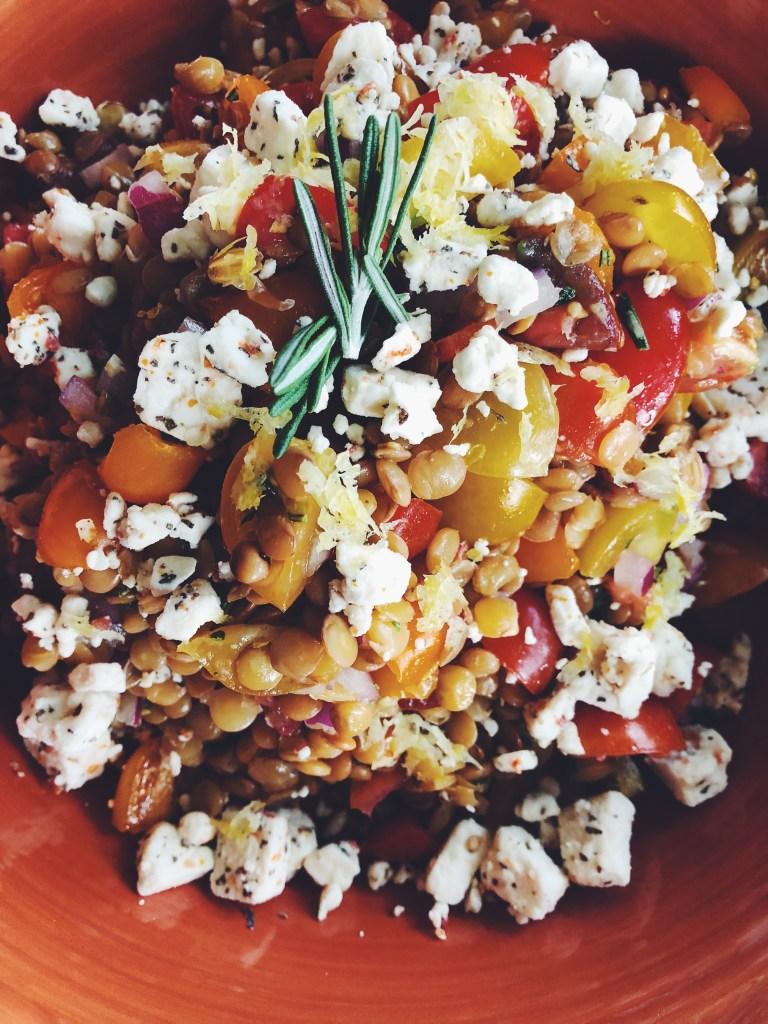 RECIPE | Cold Lemon Rosemary Lentil Salad | CookItHealthier.com