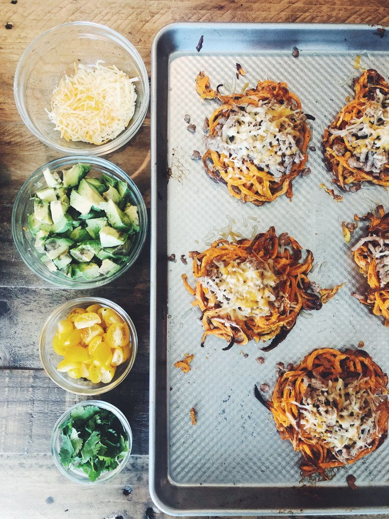 RECIPE | Stuffed Sweet Potato Nests | CookitHealthier.com