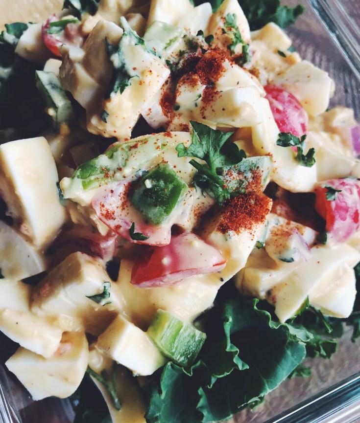 RECIPE | Light 'n Crunchy Egg Salad - Mustard Free | cookithealthier.com