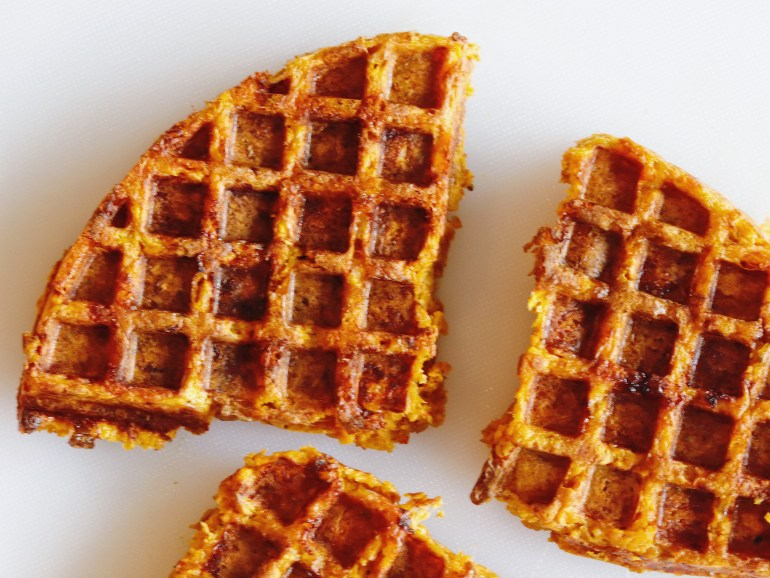 Recipe | Sweet Potato Waffle Breakfast Sandwich | cookithealthier.com