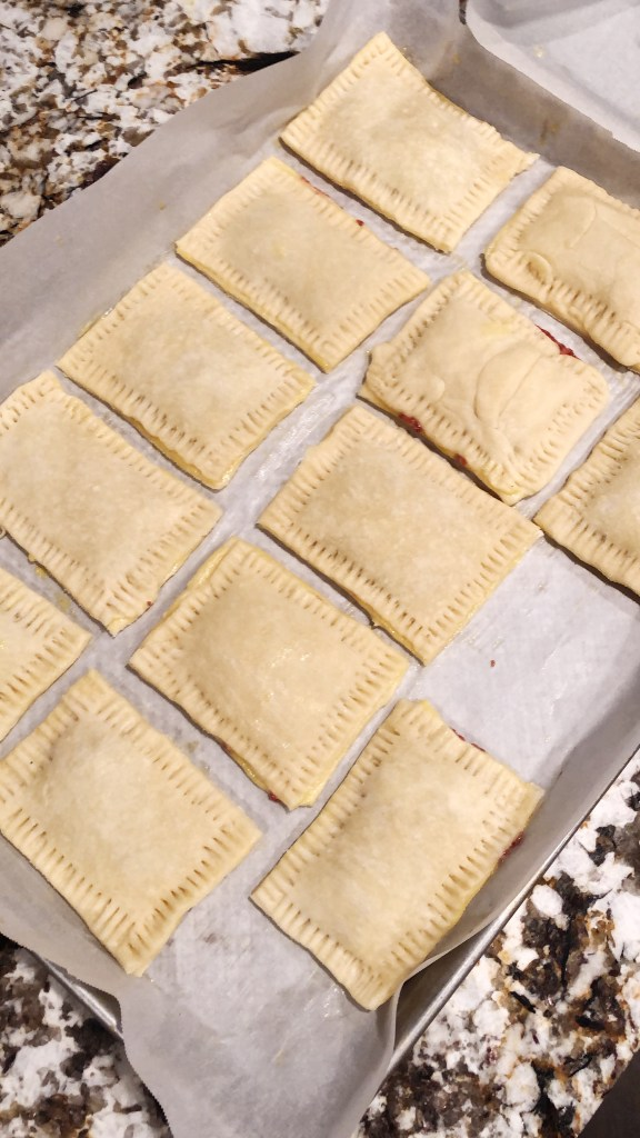 Homemade Pop Tarts Ready for the Oven