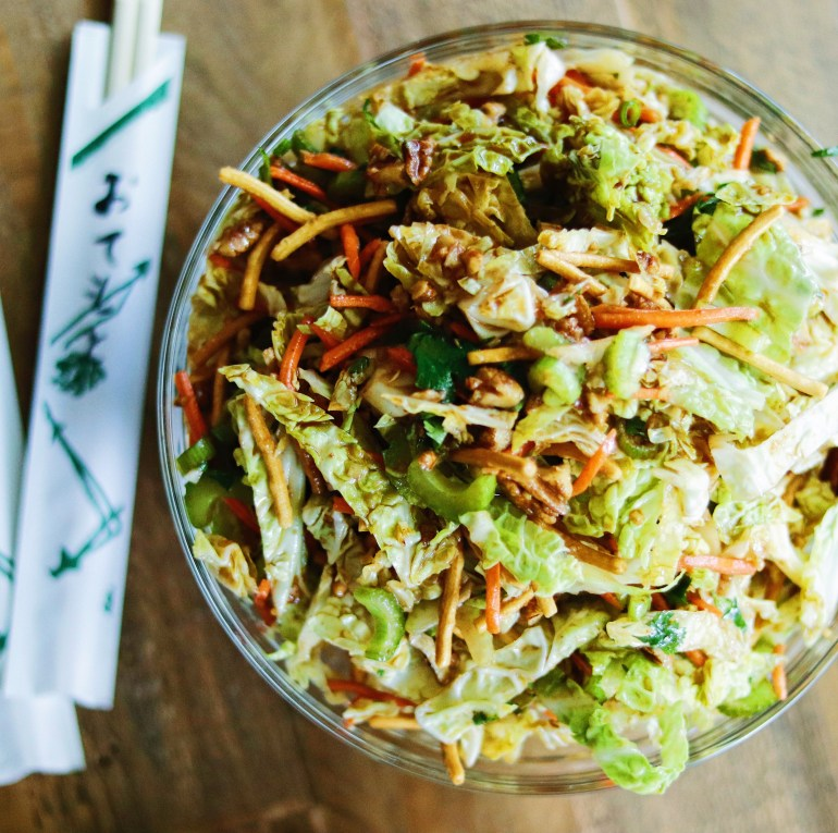 RECIPE | Spicy Asian Crunch Cabbage Salad | cookithealthier.com