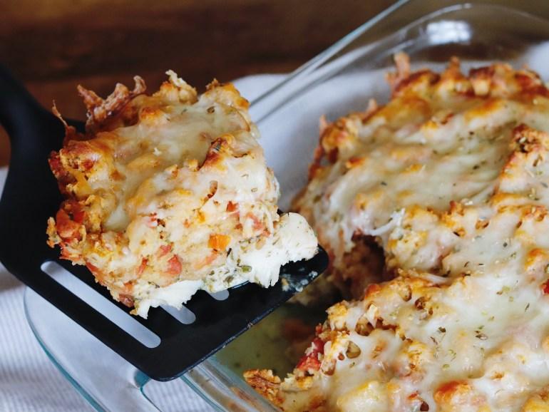 RECIPE | 30-Minute Chicken Bruschetta Bake | cookithealthier.com