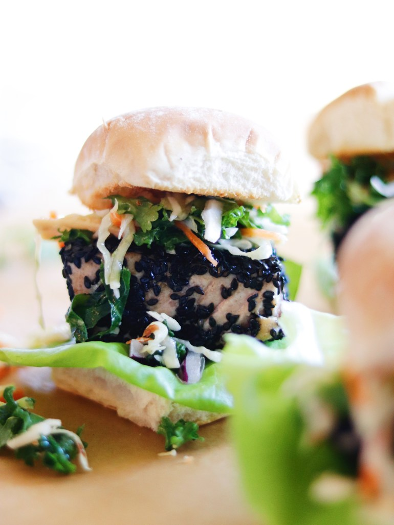 RECIPE | Sesame Crusted Tuna Sliders with Wasabi Mayo | Cookithealthier.com