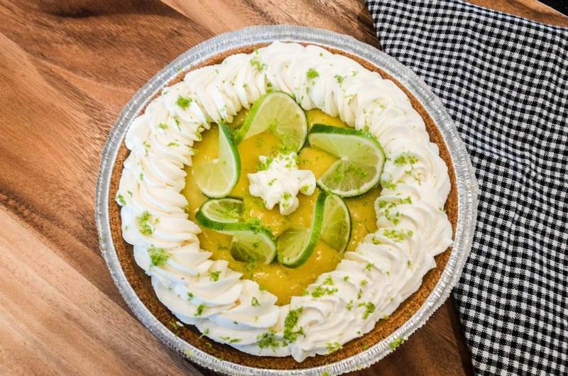 Key Lime Curd Pie